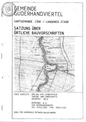Gestaltungssatzung Guderhandviertel - Elbberg