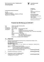 Protokoll der BA-Sitzung am 25.05.2011 - Ackermannbogen