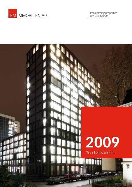 Geschäftsbericht 2009 - IFM Immobilien AG
