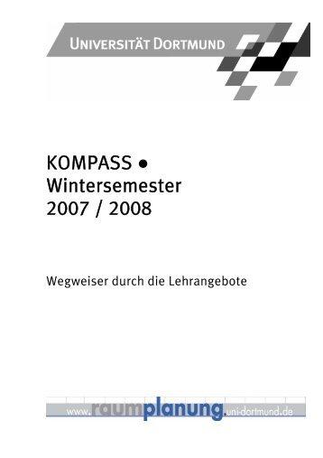KOMPASS Wintersemester 2007 / 2008 - Fakultät Raumplanung
