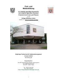 Fort- und Weiterbildung - Philipp-Holzmann-Schule