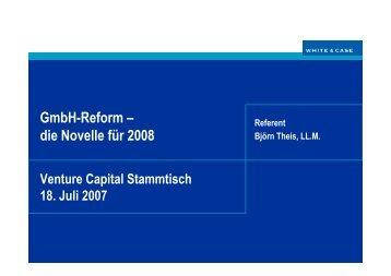 VCC_Vortrag 18 7 07 GmbH Reform.PPT Read ... - levitianserver.de