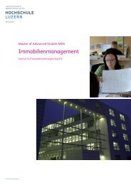 Immobilienmanagement - FH MASTER by FH Schweiz