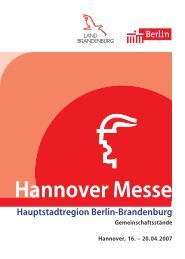 Hannover Messe Umschlag 2007 - The Berlin Business Location ...