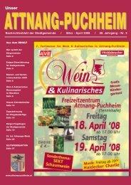 Nachrichtenblatt der Stadtgemeinde / März - April 2008 / 58 ...