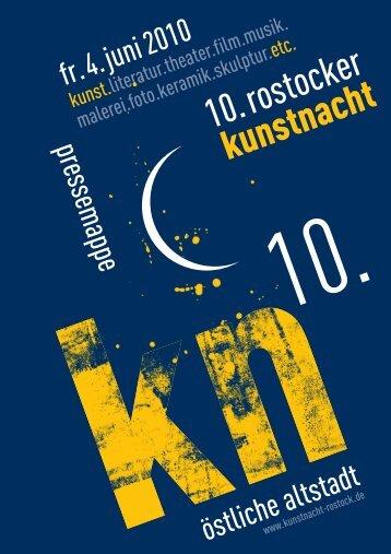 Presseheft Rostocker Kunstnacht 2010 (PDF) - Östliche Altstadt
