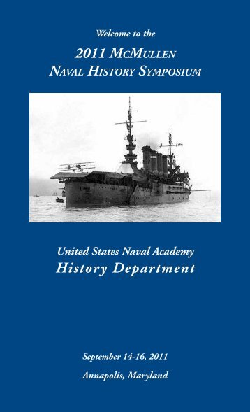2011 McMullen History Department - United States Naval Academy