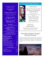 Most Recent Bulletin - St. Joseph Parish