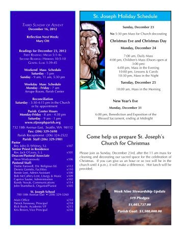 Most Recent Bulletin - St. Joseph Parish