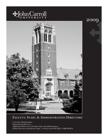 Faculty, Staff, & Administration Directory - John Carroll University