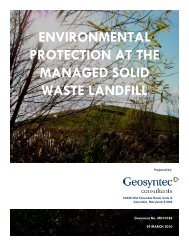 AREA A/B ENGINEERING REPORT - Waste Management