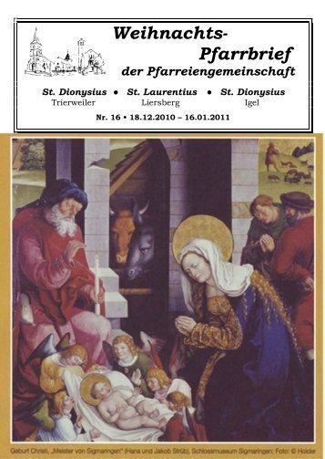 Pfarrbrief der Pfarreiengemeinschaft