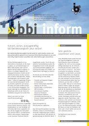 bbi inform - Press & More GmbH