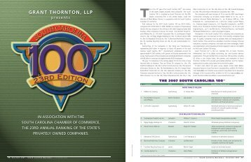 GRANT THORNTON, LLP - University of South Carolina