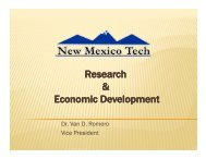 Research & Economic Development - New Mexico Legislature