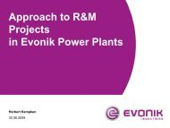 Approach To R&M Projects In Evonik Power Plants - Energy ...