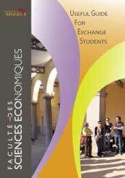 useful guide for exchange students - Faculté des sciences ...
