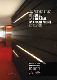 swiss excellence in hotel and design management education