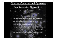 Bausteine des Universums - Max-Planck-Institut für Physik