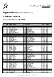 6. Kiebinger Osterlauf - Laufsportmarketing
