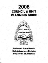 Planning Guide - Troop 1099 Header page