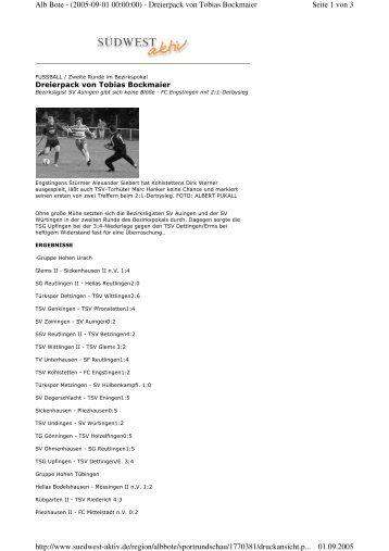Seite 1 von 3 Alb Bote - (2005-09-01 00:00:00) - Dreierpack von ...