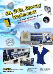 CD, DVD, Blu-ray Kopierwerk - Merlin Productions GmbH