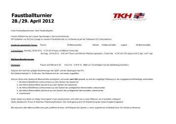 Download Spielplan Männer - Faustball im Turn-Klubb zu Hannover