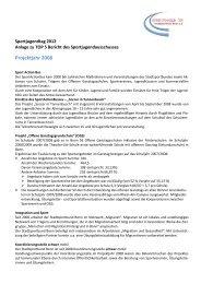 Bericht des Sportjugendausschusses - Stadtsportbund Bonn eV