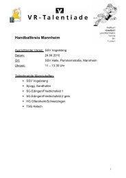 Handballkreis Mannheim - Badischer Handball-Verband