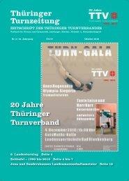 Thüringer Turnzeitung - Thüringer Turnverband eV