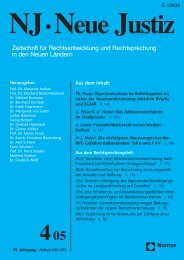 Ganzes Heft zum Download (Pdf) - Neue Justiz - Nomos