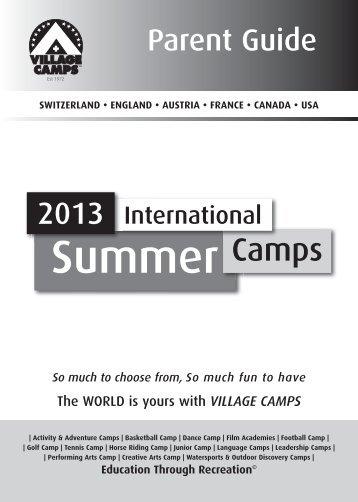 Download Parents Guide PDF - Village Camps