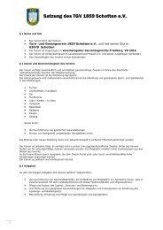 Aktuelle Satzung des TGV vom 04.05.2012 - TGV Schotten