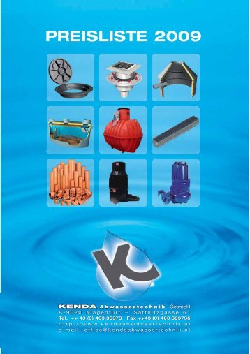 Gesamte PL2009.pdf - Kenda Abwassertechnik