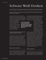 Schwarz Weiß Denken - Hinterland Magazin