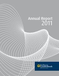 Annual Report 2011 - Geschäftsbericht 2011 - Raiffeisenlandesbank ...