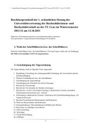 Beschlussprotokoll der 1. ordentlichen Sitzung der ... - HTU Graz