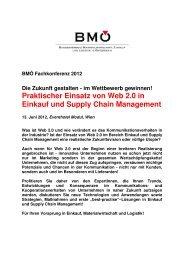 Praktischer Einsatz von Web 2.0 in Einkauf und Supply Chain ...