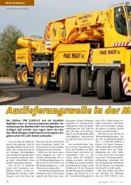 Auslieferungswelle in der Mega-Kranklasse - KM-Verlags GmbH