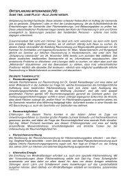 ortsplanung miteinander (vi) - Raumordnung und Regionalpolitik