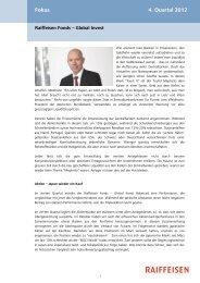 Fokus 4. Quartal 2012 - Raiffeisen
