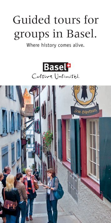 Guided tours for groups in Basel. - Spalenring 10