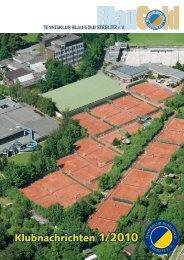 Die Klubzeitung 01 / 2010 - Tennisklub Blau-Gold Steglitz eV