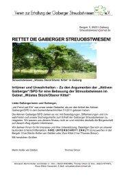 rettet die gaiberger streuobstwiesen! - BUND Rhein-Neckar-Odenwald