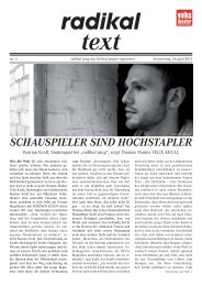 Festivalzeitung 26. April - Tag 6