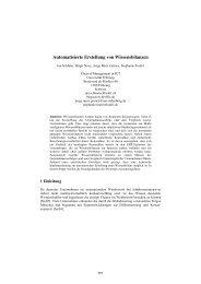 Automatisierte Erstellung von Wissensbilanzen