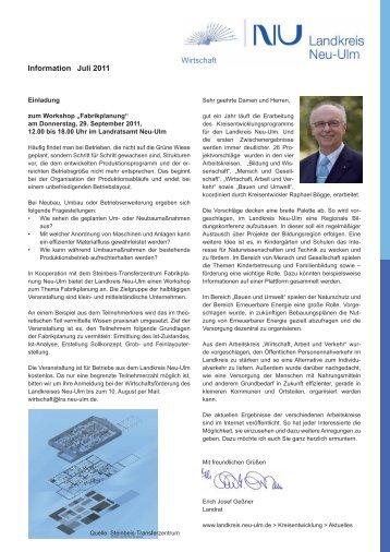 Wirtschafts-Informationen Juli 2011 - Landkreis Neu-Ulm