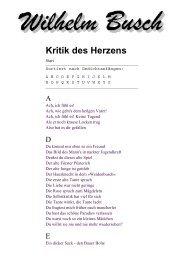 Wilhelm Busch - Kritik des Herzens