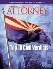 Arizona Civil Verdicts: 2011 - Snell & Wilmer